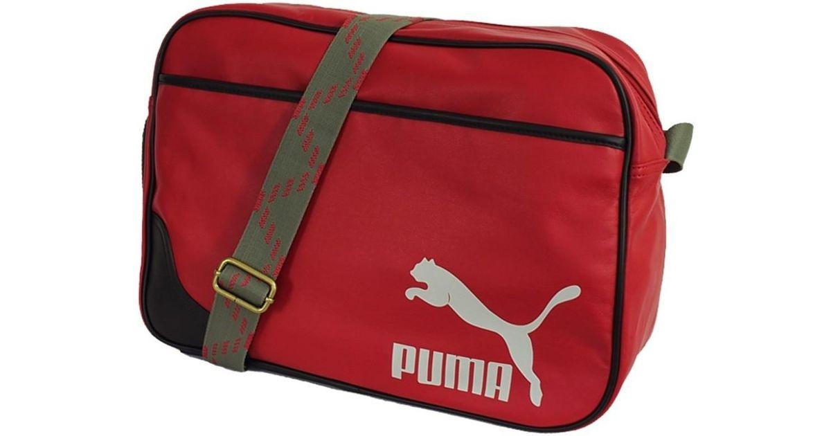 4baf824a6a01 PUMA Originals Reporter Men s Messenger Bag In Red in Red for Men - Lyst