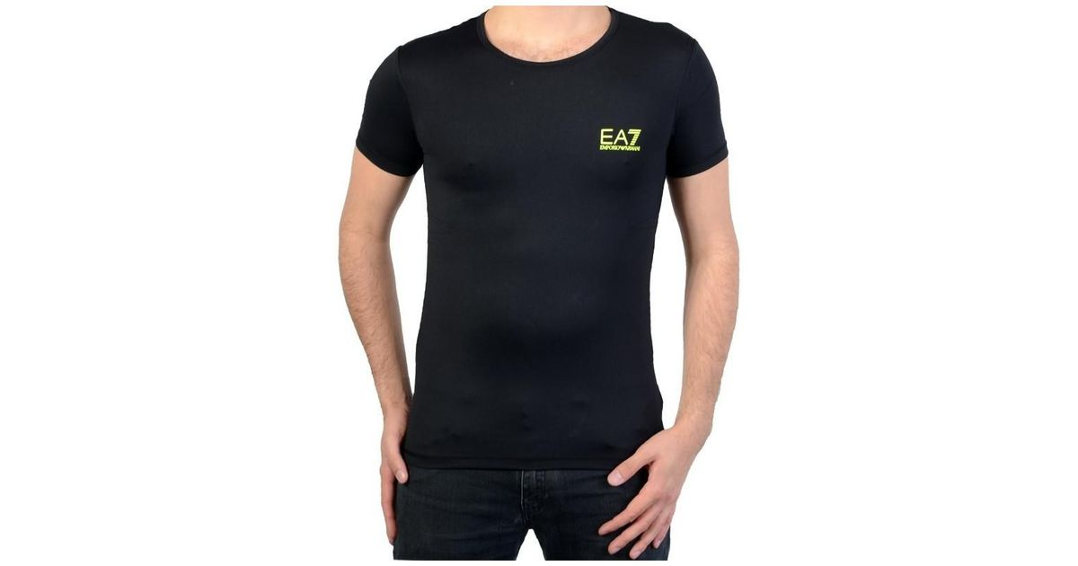 Ea7 T-shirt Armani Ea7 Sea World Sw Active 903029 6p707 00020 Noir Men s  Shirts And Tops In Black in Black for Men - Lyst ae7ffdaa4cf