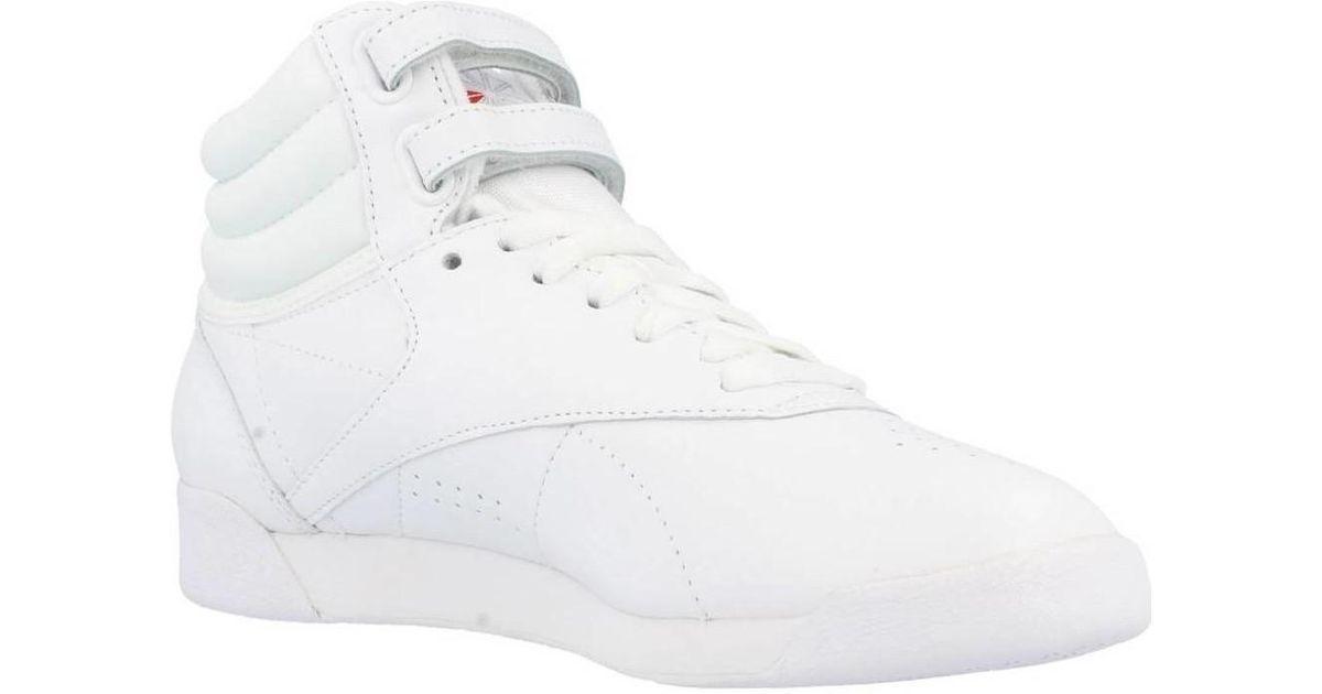 Classic 2431 Women's Top R Hi White TrainersIn Shoeshigh Reebok Fs c5qLj34AR