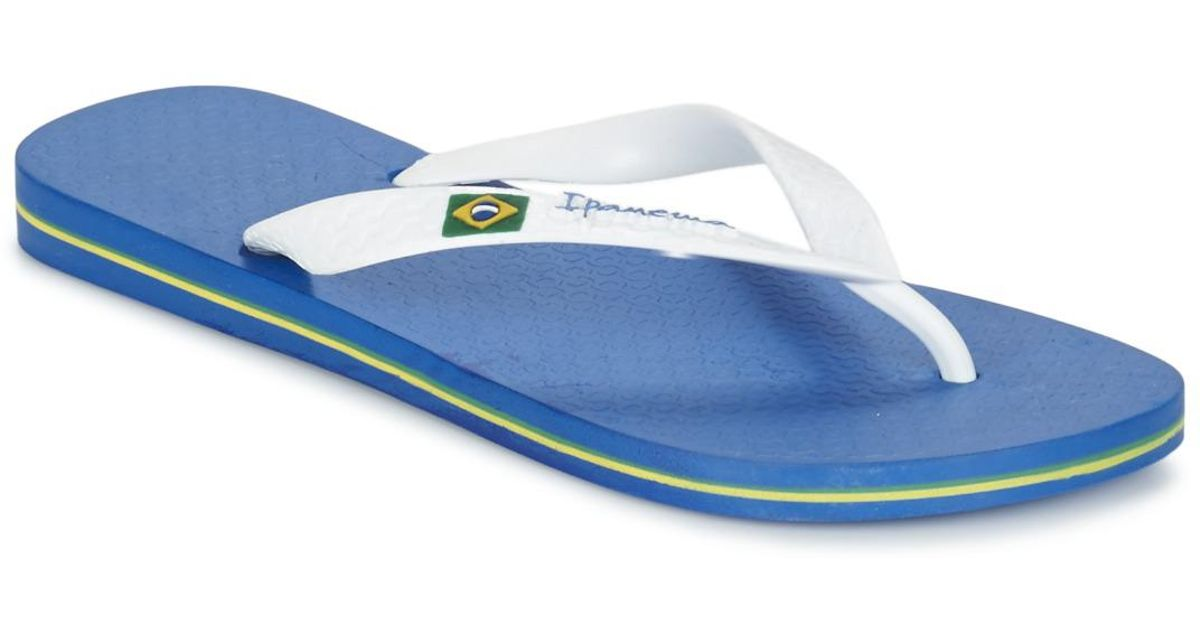 31ef21b4e417 Ipanema Classica Brasil Ii Men s Flip Flops   Sandals (shoes) In Blue in  Blue for Men - Lyst