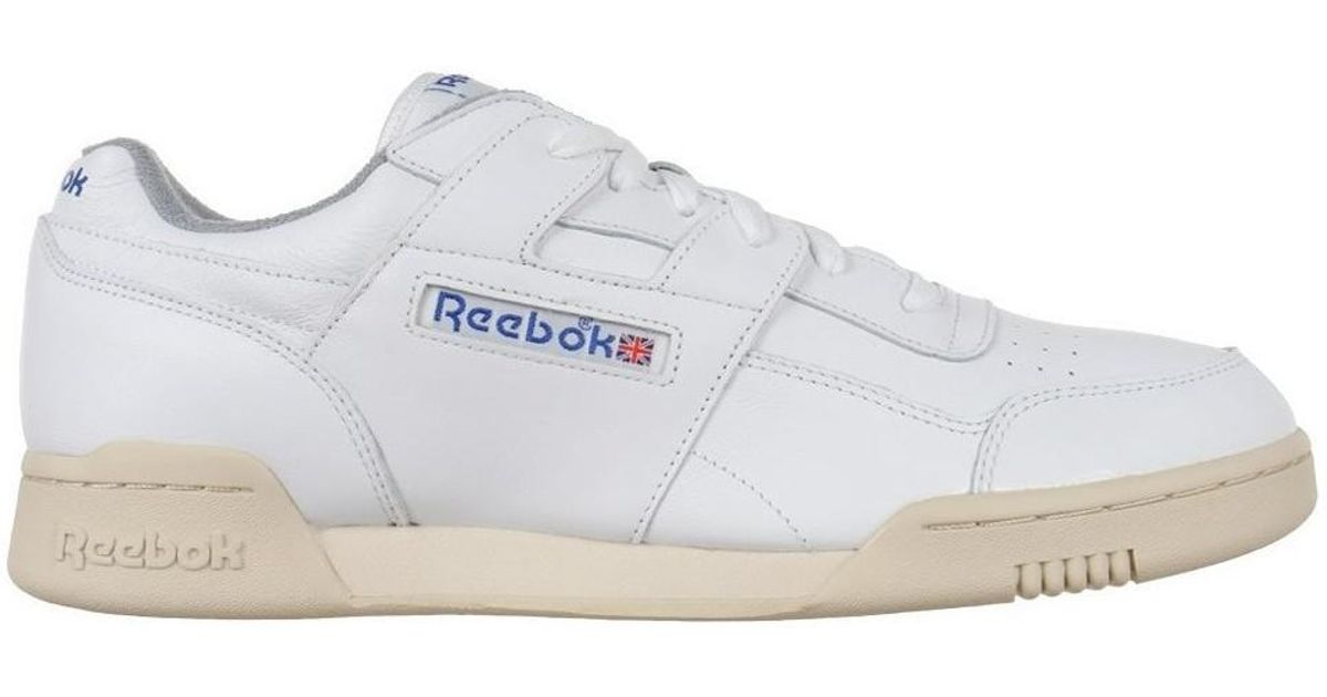 3722e3133711a3 Reebok Classic Workout Plus R12 Men s Shoes (trainers) In White in White  for Men - Lyst