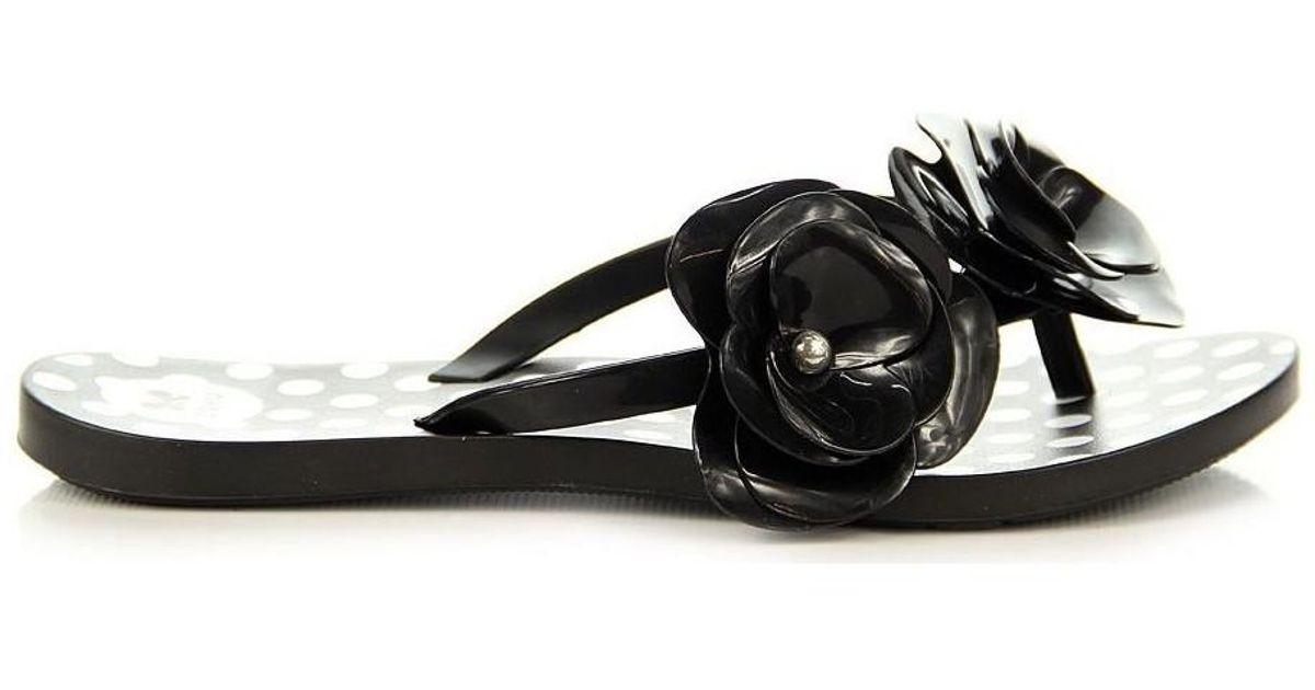 00e9d678ea3947 Zaxy Pachnące Fresh New Garden Thong Fem 82036 Women s Flip Flops   Sandals  (shoes) In Black in Black - Lyst