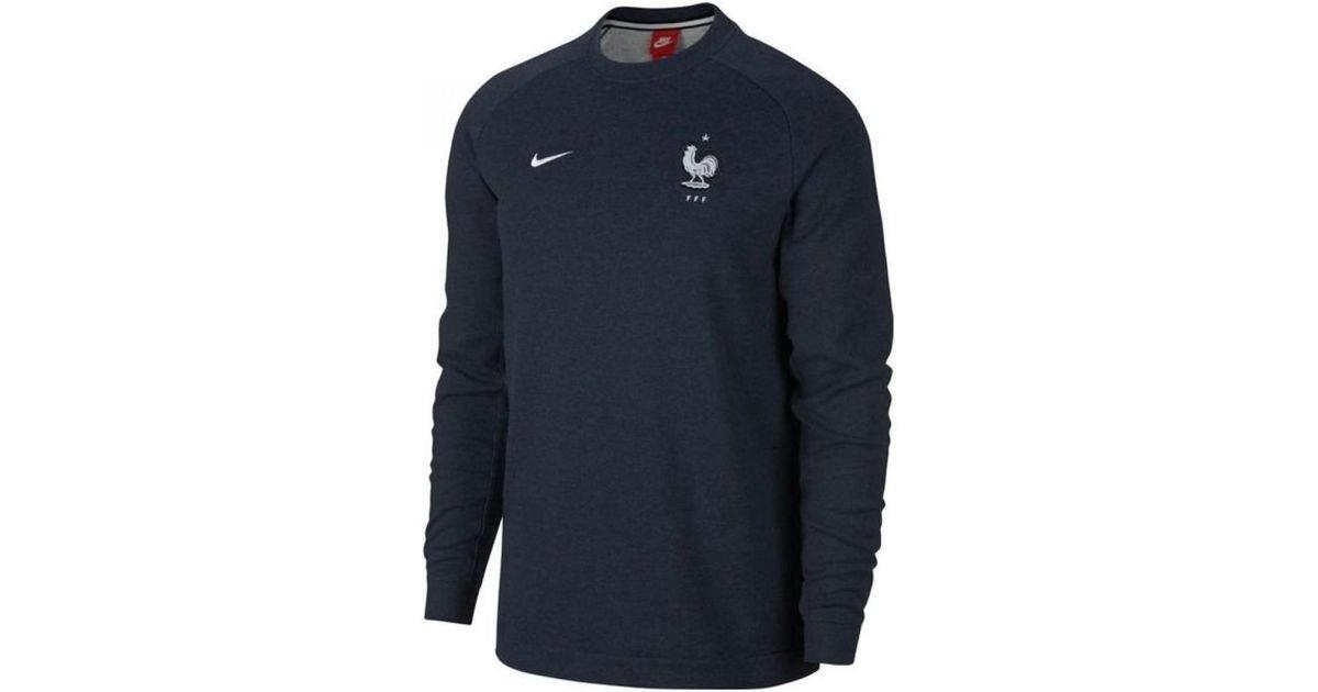 Nike , 2018,2019 France Authentic Modern Crew Sweater (obsidian) Women\u0027s  Sweatshirt In Blue for Men , Lyst
