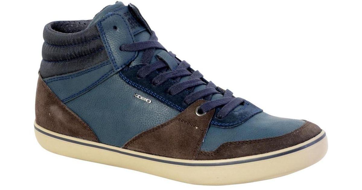 4477d9cff7c42 Geox Sneakersball U Box J U74r3j 022ek C6tf4 Dark Coffee Navy Men's Shoes  (high-top Trainers) In Brown in Brown for Men - Lyst
