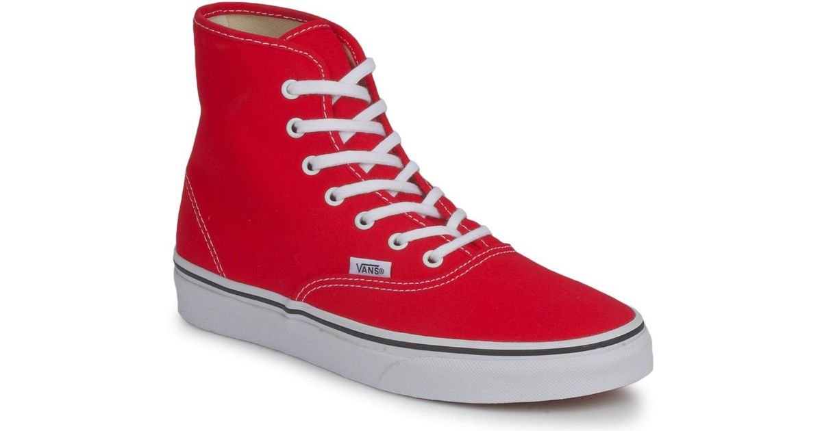 Vans Authentic Hi Women s Shoes (high-top Trainers) In Red in Red - Lyst 655d735db8