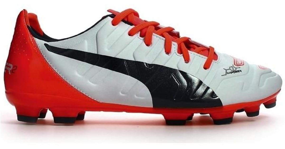 Puma Evopower 2.2 Ag Football Boots Women s Football Boots In White in  White - Lyst 950a1248cc