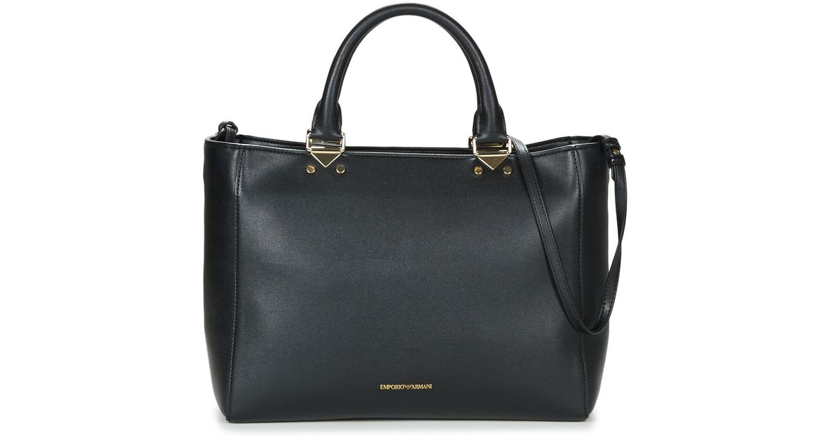 Emporio Armani Nellie Shopping Women s Shoulder Bag In Black in Black for  Men - Lyst bf9fc46b03f6c