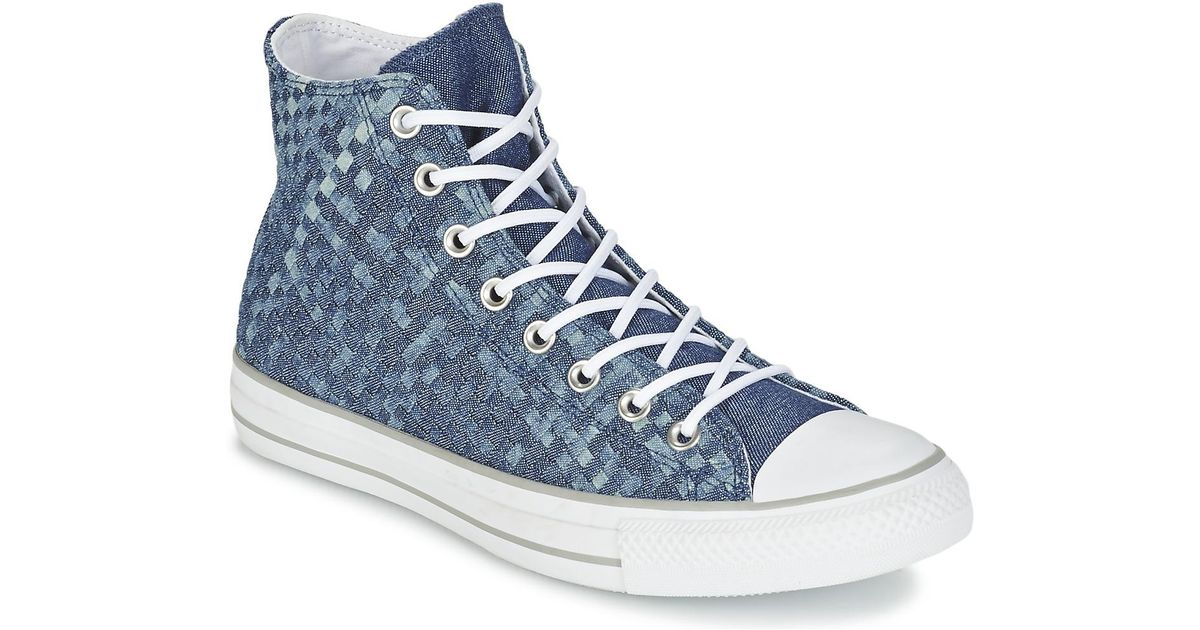 a18c3f27e76e Converse Chuck Taylor All Star Denim Woven Hi Men s Shoes (high-top Trainers)  In Blue in Blue for Men - Lyst