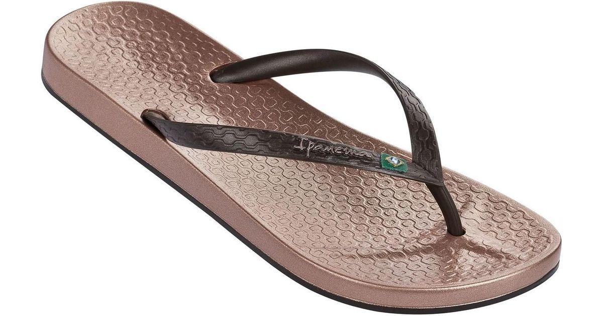 cfdd81cd84f2 Ipanema Beach Brasil Flag Flip Flops In Rose Gold Brown 80403 Women s Flip  Flops   Sandals (shoes) In Brown in Brown - Lyst