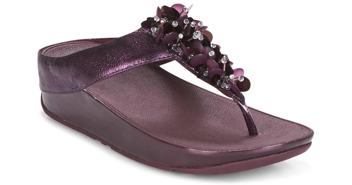 b8421fc516e Fitflop Boogaloo Toe Post Women s Flip Flops   Sandals (shoes) In Purple in  Purple - Lyst