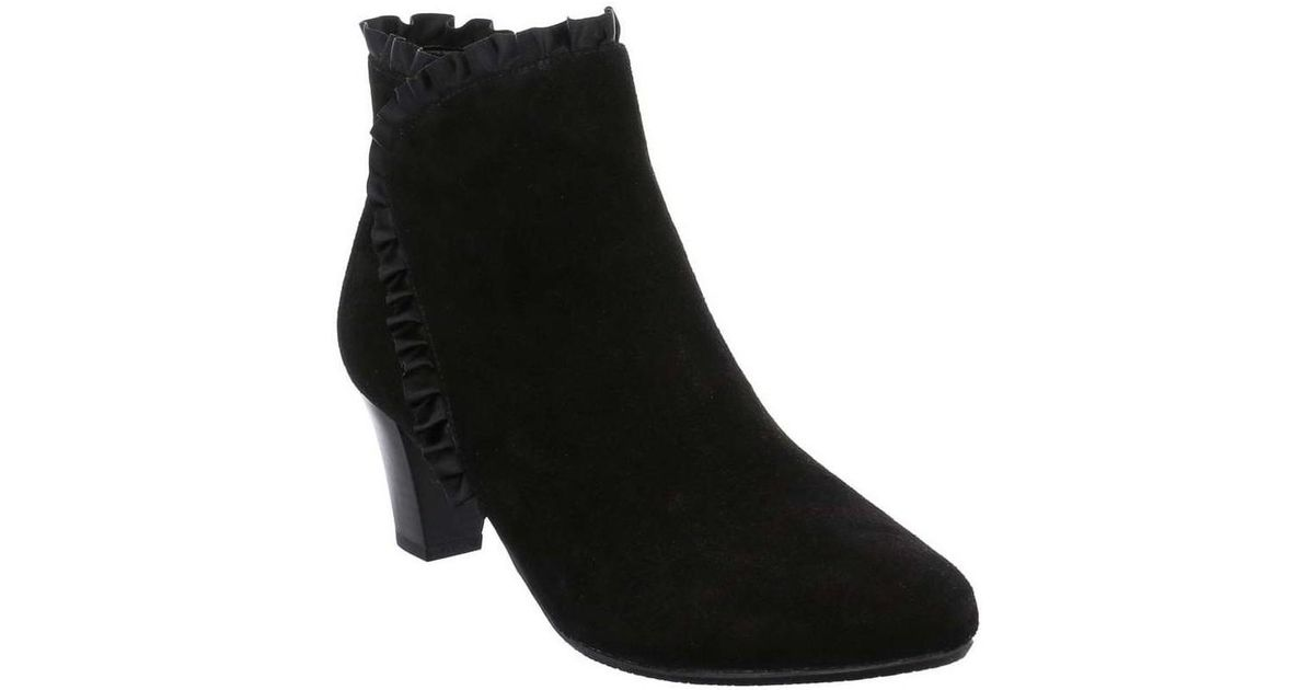 Suede Satin Black 23 Womens In Weber Ruffle Gerry Boots Ankle Lena v4qTIxEX