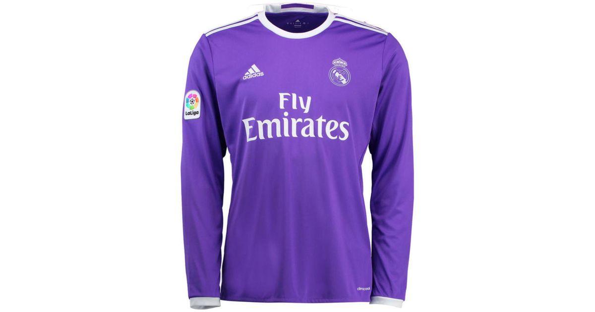 on sale 9bdd5 e141c Adidas - 2016-17 Real Madrid Away Longsleeve Shirt (ronaldo 7) Women's In  Purple - Lyst
