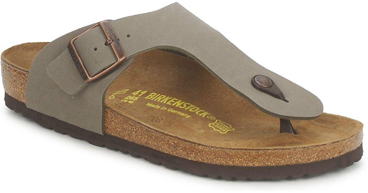 48399ddbee7f Birkenstock Ramses Men s Flip Flops   Sandals (shoes) In Grey in Gray for  Men - Lyst