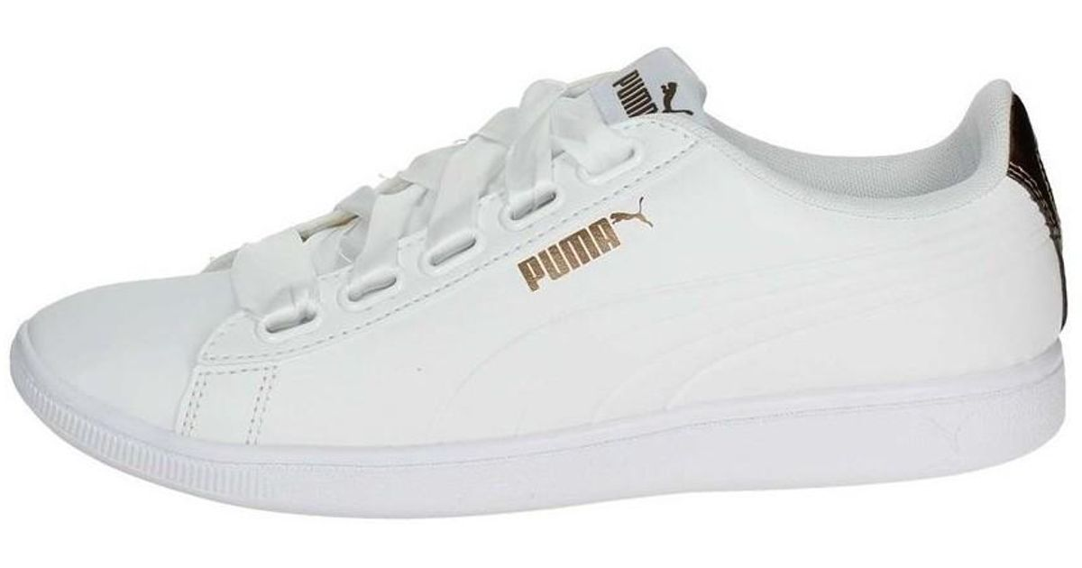 df251737dacbd7 Puma Vikky Ribbon Sl Metallic Women s Shoes (trainers) In White in White -  Lyst