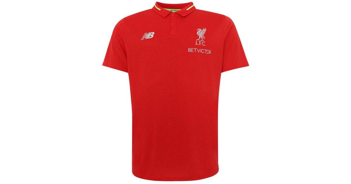 b13f66b1898 New Balance 2018-2019 Liverpool Elite Essential Polo Shirt Women s T Shirt  In Red in Red - Lyst