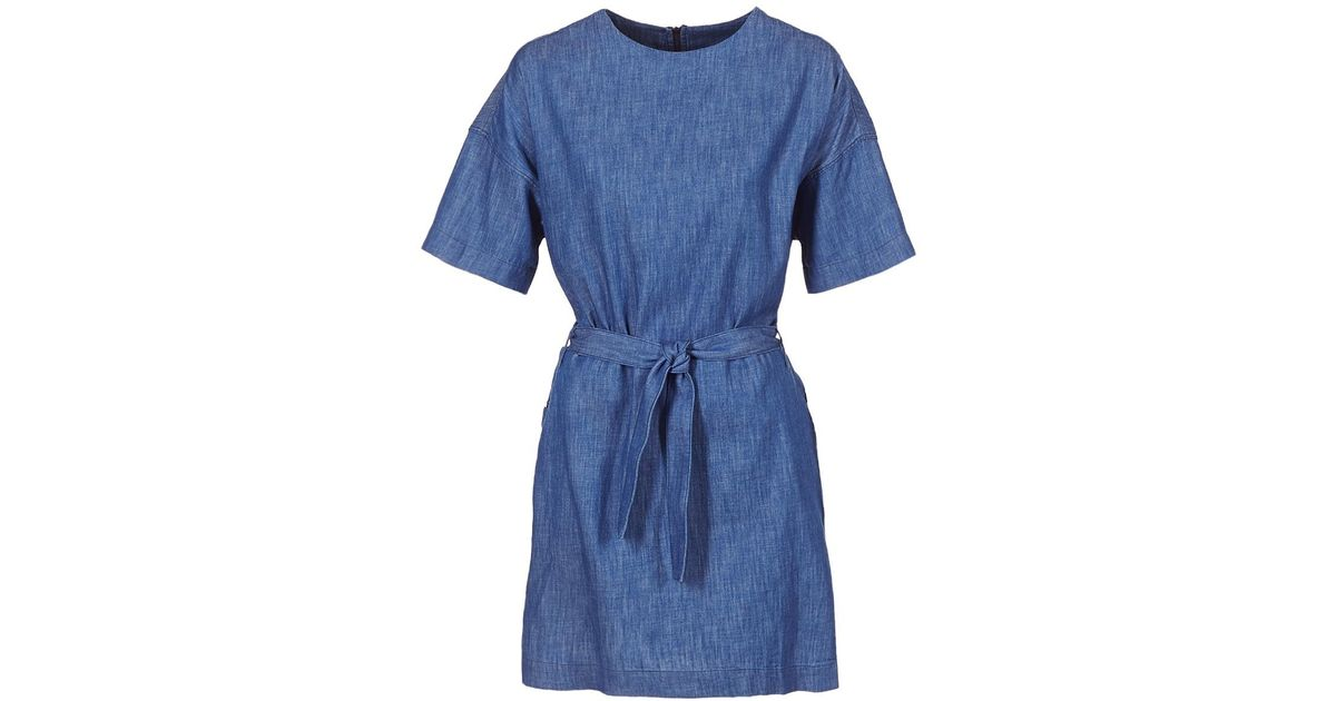 7595b1ad87d G-Star RAW Deline Shirt Dress S s Women s Dress In Blue in Blue - Lyst