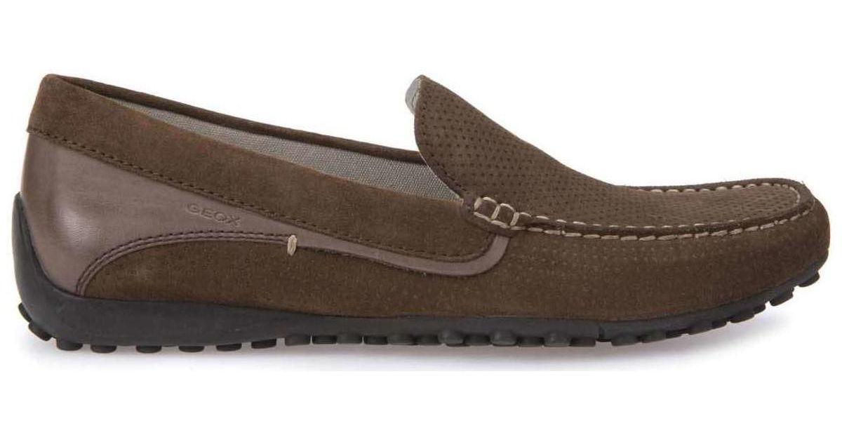 2ae5ab5df8eac Geox U7207g 0bs43 Mocassins Man Brown Men's Loafers / Casual Shoes In Brown  in Brown for Men - Lyst