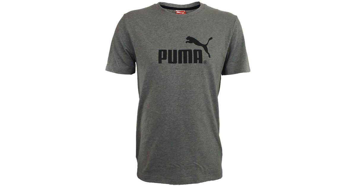 c6b39ecbb20 Puma Large No1 Logo Tee Men's T Shirt In Grey in Gray for Men - Lyst