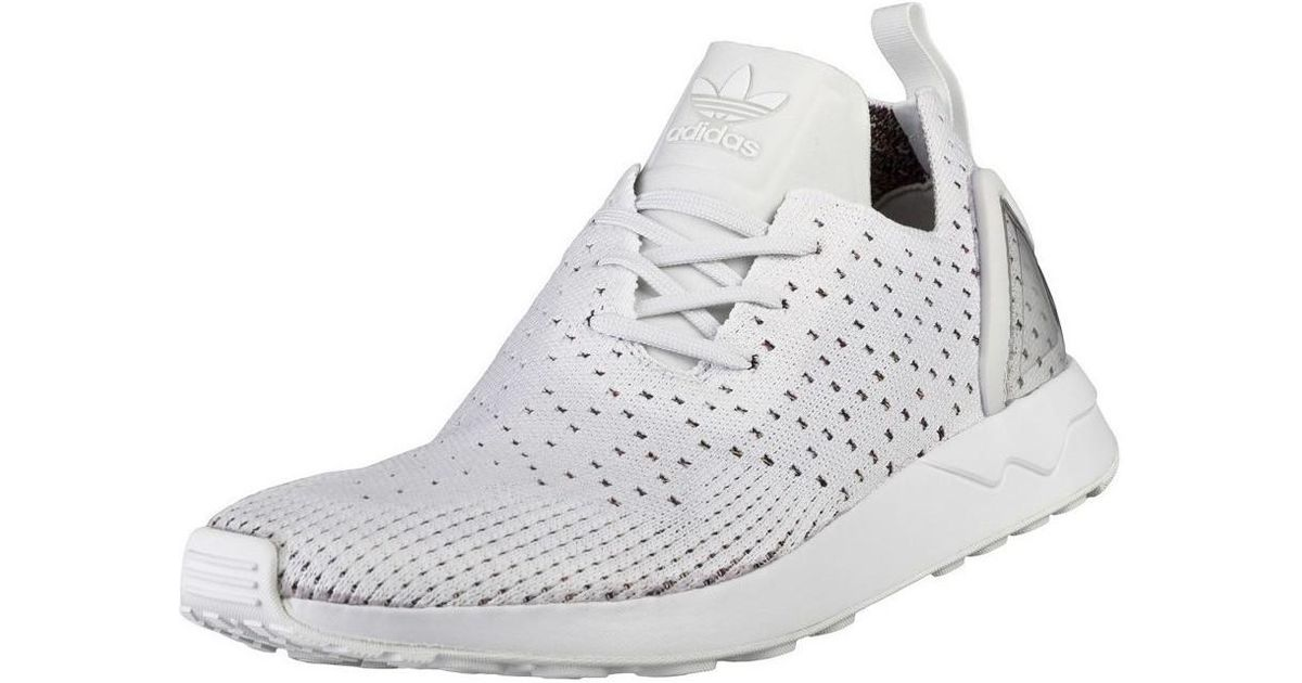 f5f7f5b5b45ca2 Adidas Zx Flux Adv Asym Pk Men s Shoes (trainers) In White in White for Men  - Lyst