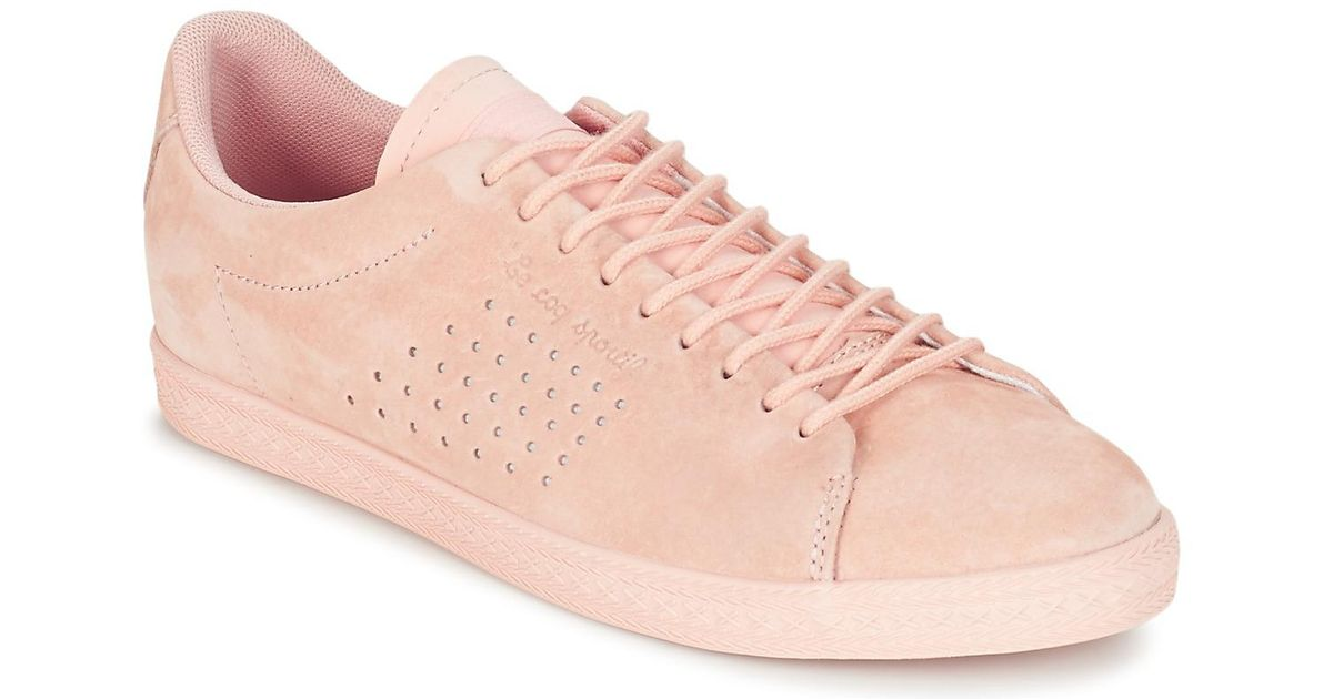 94cae2b5db44 Le Coq Sportif Charline Nubuck Women s Shoes (trainers) In Pink in Pink -  Lyst