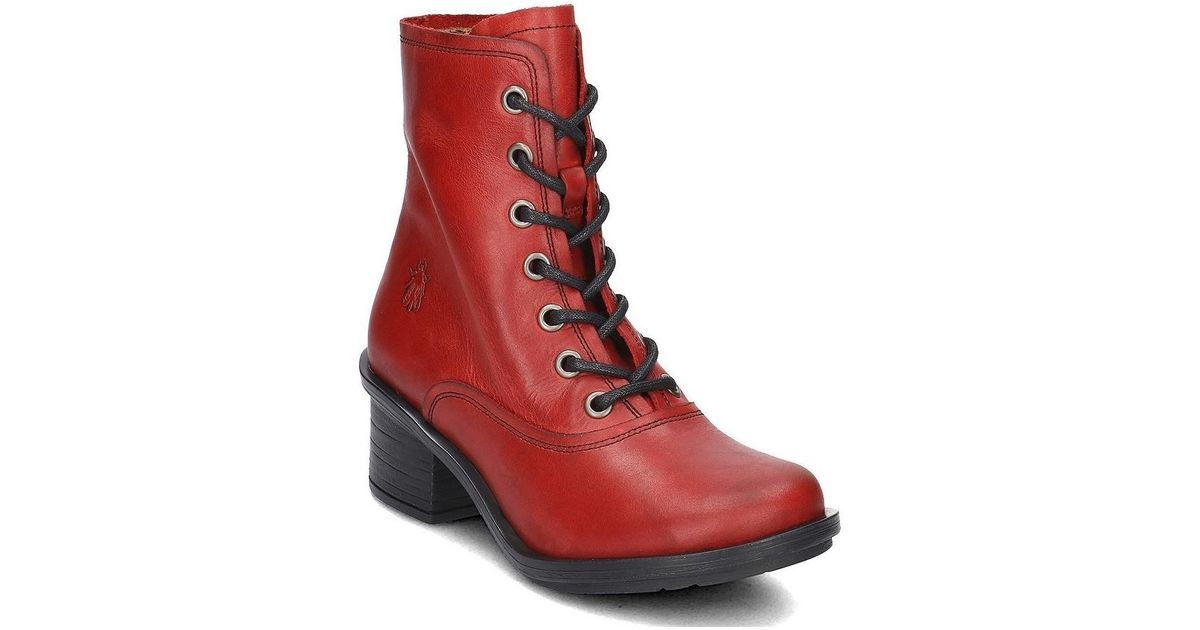 Fly London Carm Women s Low Ankle Boots In Red in Red - Lyst e696e131d