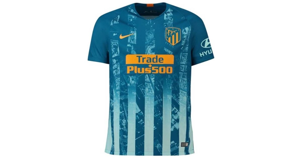 purchase cheap 5f3dc 8fad9 Nike 2018-2019 Atletico Madrid Third Football Shirt (griezmann 7) Men's T  Shirt In Blue for men