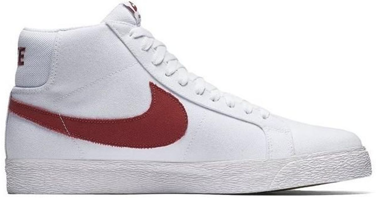 daa8452bb26d Nike Sb Zoom Blazer Mid Canvas Men's Shoes (high-top Trainers) In  Multicolour for Men - Lyst