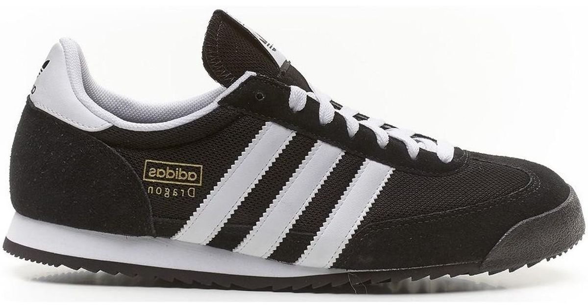 23deebcbe2d8a5 adidas Originals Dragon Retro Trainers Black White G16025 Men s Shoes ( trainers) In Black in Black for Men - Lyst