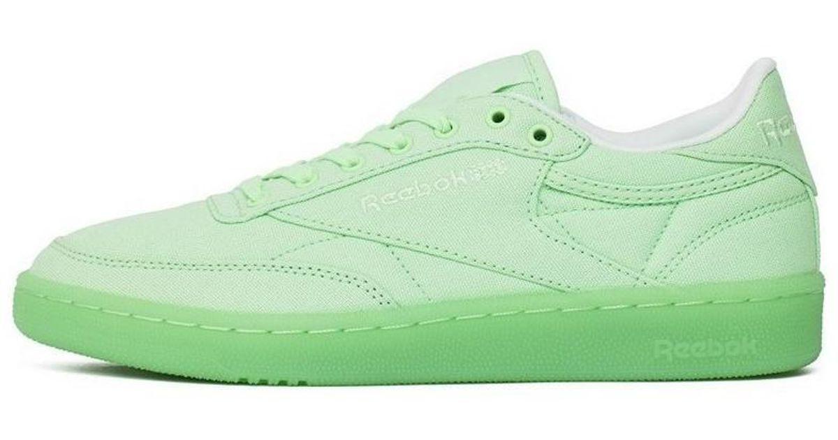 72f0c80e8ea Reebok Club C 85 Canvas Mint Green Women s Shoes (trainers) In Green in  Green - Lyst