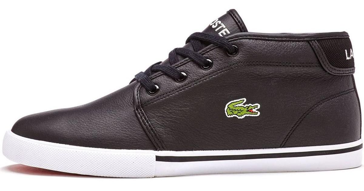 5fc3f17d63645 Lacoste Ampthill High Leather Trainers In Black 731spm0098 02h Men s Shoes ( high-top Trainers) In Black in Black for Men - Lyst