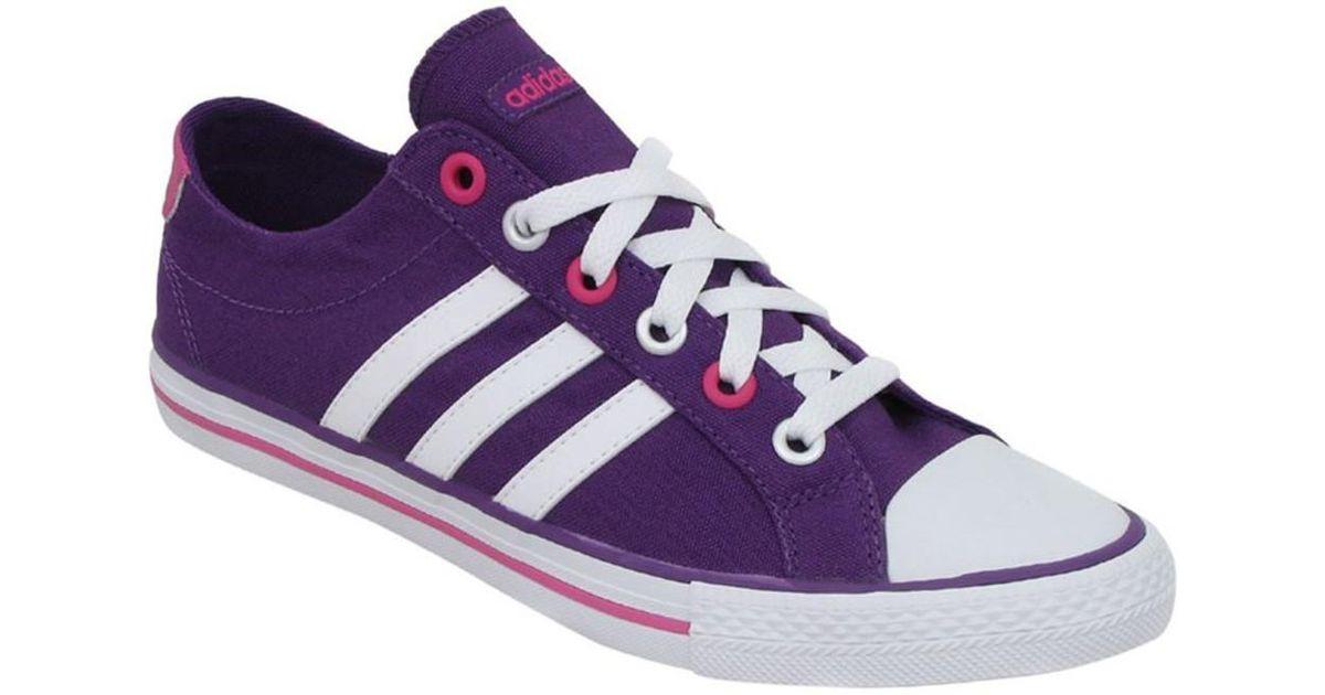 sale retailer 8e2fd e615a adidas Vlneo 3 Stripes Lo K Men s Shoes (trainers) In Purple in Purple for  Men - Lyst