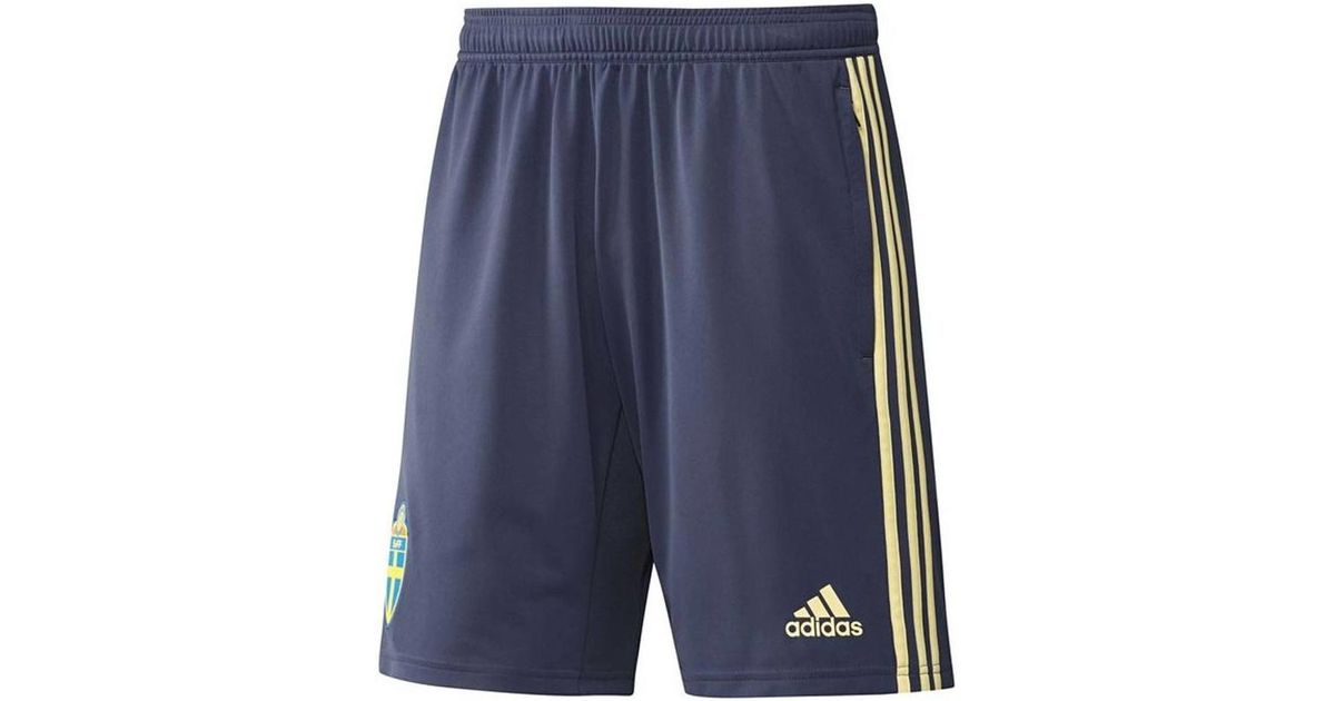 05043dfbac44 adidas 2018-2019 Sweden Training Shorts (noble Indigo) Men s Shorts In Blue  in Blue for Men - Lyst