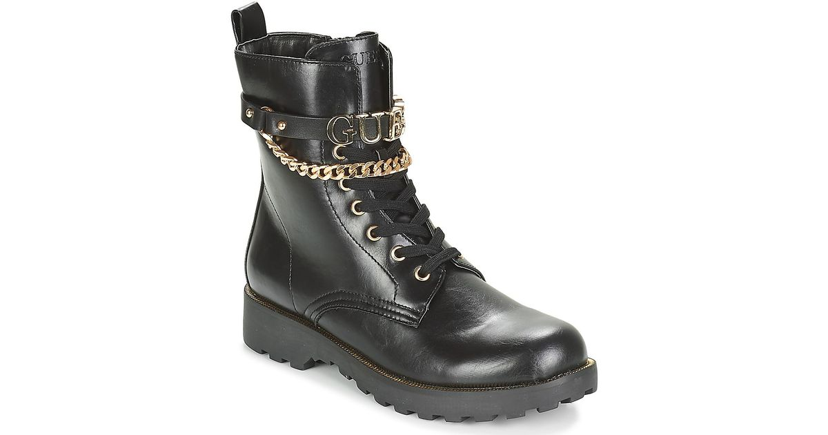 Guess Nina High Boots in Black - Lyst 42a8e7da5252