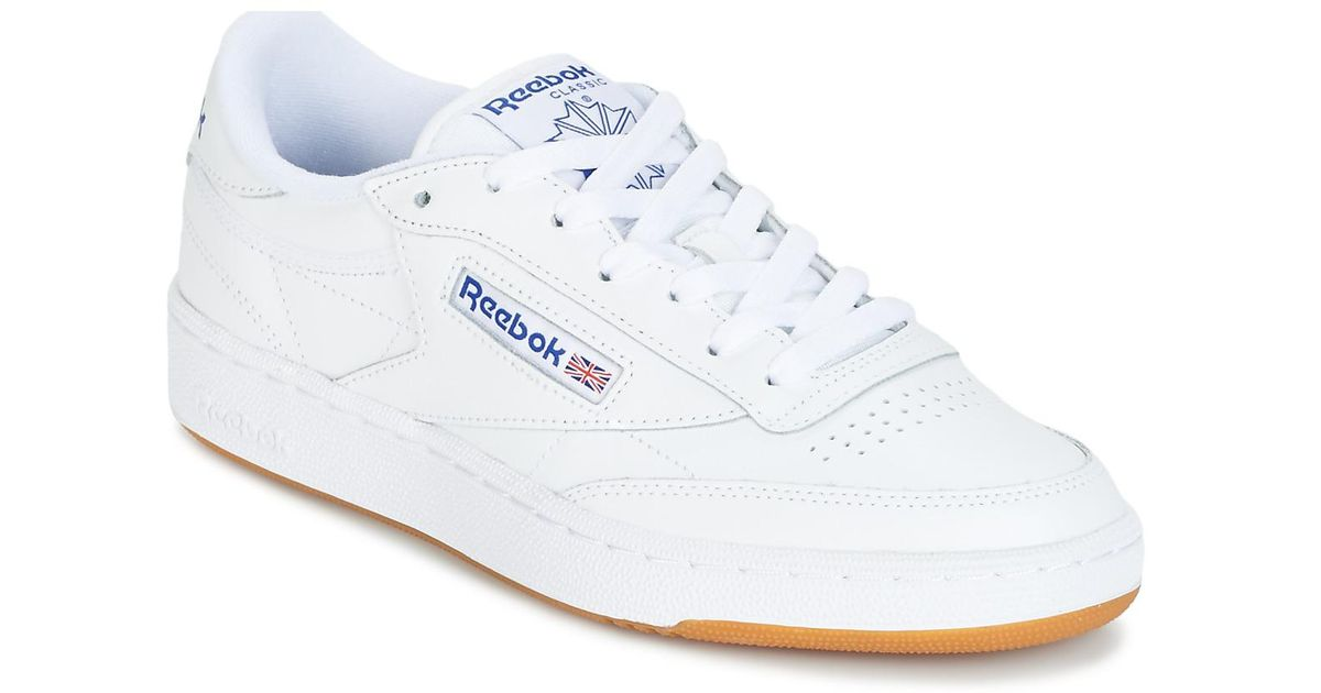 10dd0d8e72c Reebok Club C 85 Women s Shoes (trainers) In White in White - Lyst