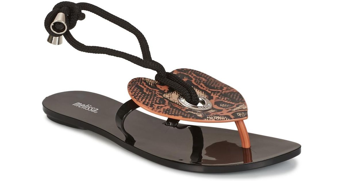 d0f7bc4f170023 Melissa Bliss Ii Sp Ad Flip Flops   Sandals (shoes) in Black - Save 10% -  Lyst