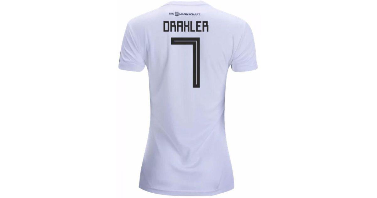 2c65f143d adidas 2018-19 Germany Home Womens Shirt (draxler 7) Men s T Shirt In White  in White for Men - Lyst