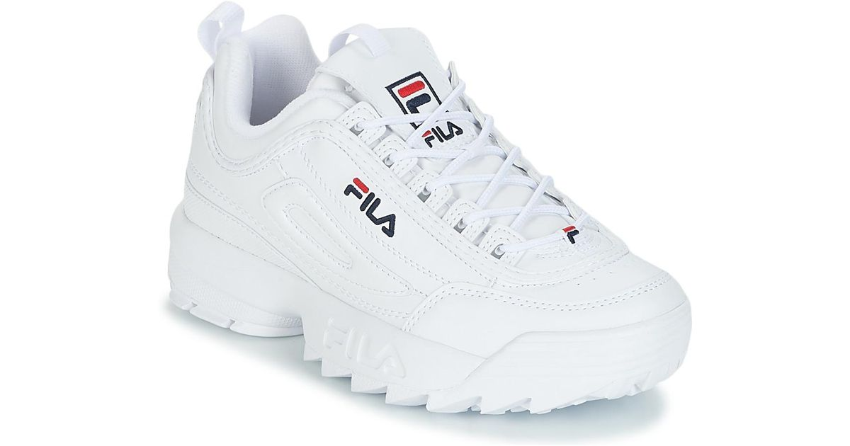 34a5f2f72652 Fila Disruptor Low Wmn Women's Shoes (trainers) In White in White - Lyst