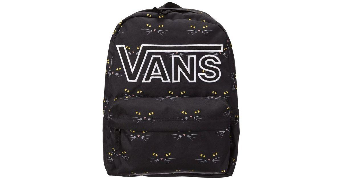 fc47455195 Vans Realm Flying V Ba Black Cat Women s Backpack In Black in Black - Lyst