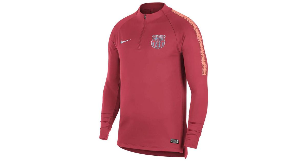 b679b4912 Nike 2018-2019 Barcelona Drill Training Top (tropical) Men s Tracksuit  Jacket In Pink in Pink for Men - Lyst