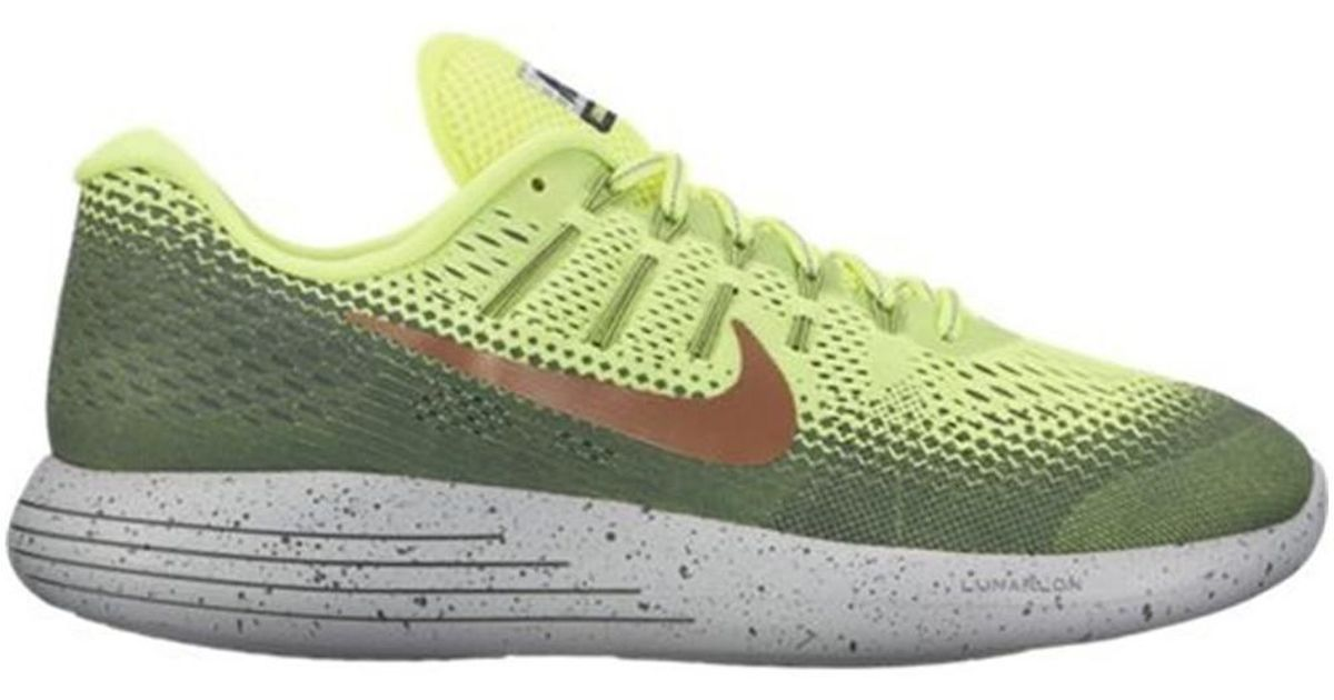 f573bba78de new zealand nike lunarglide 8 shield mens shoes trainers in green in green  for men save