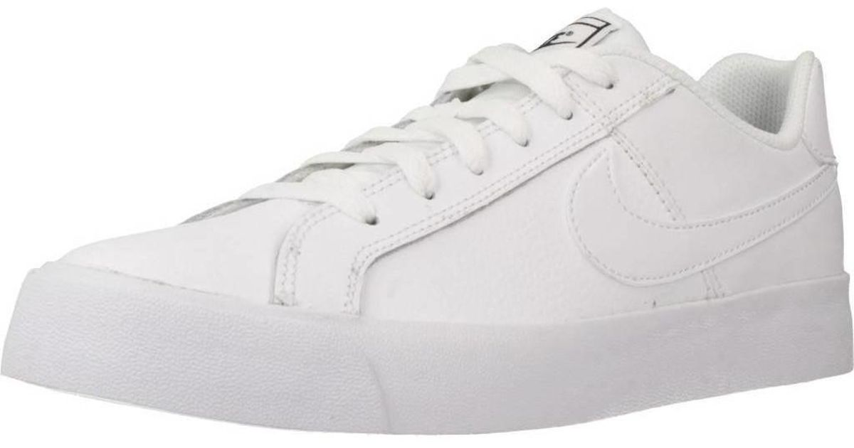 separation shoes a37e5 9c2cb Nike Court Royale Ac Women s Shoes (trainers) In White in White - Lyst