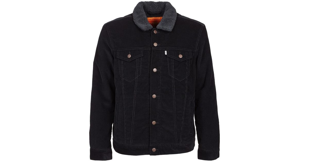 971b7752b49 Levi s Levis Good Sherpa Trucker Men s Denim Jacket In Black in Black for  Men - Lyst