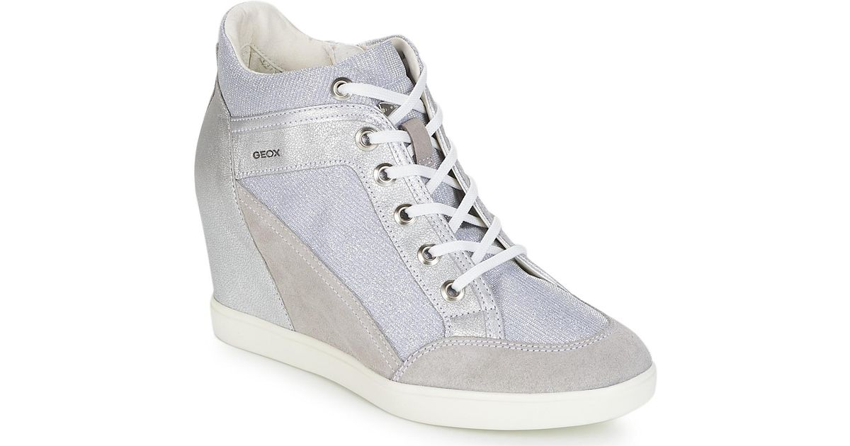 eae58eca23 Geox D Eleni C Shoes (high-top Trainers) in Gray - Lyst