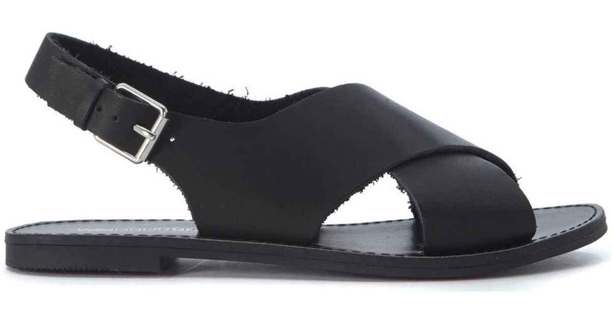 fbd8b4a26fe2 Windsor Smith Banning Black Leather Sandal Women s Sandals In Black in Black  - Lyst