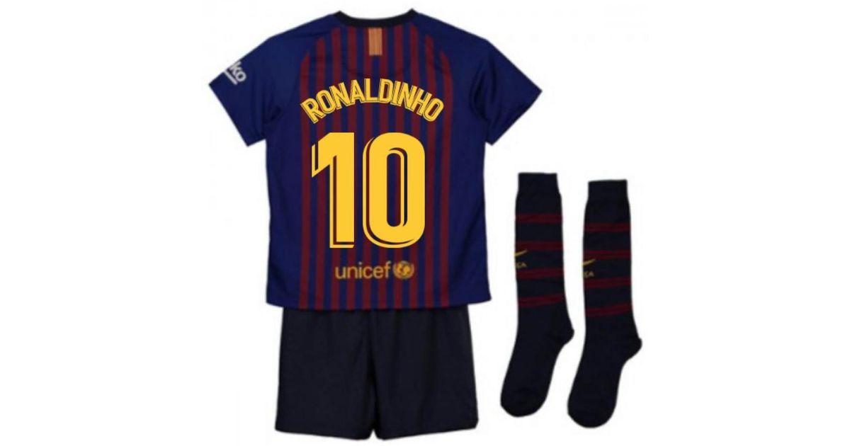 d88452c23 Nike 2018-2019 Barcelona Home Little Boys Mini Kit (ronaldinho 10) Boys s  In Red in Red for Men - Lyst