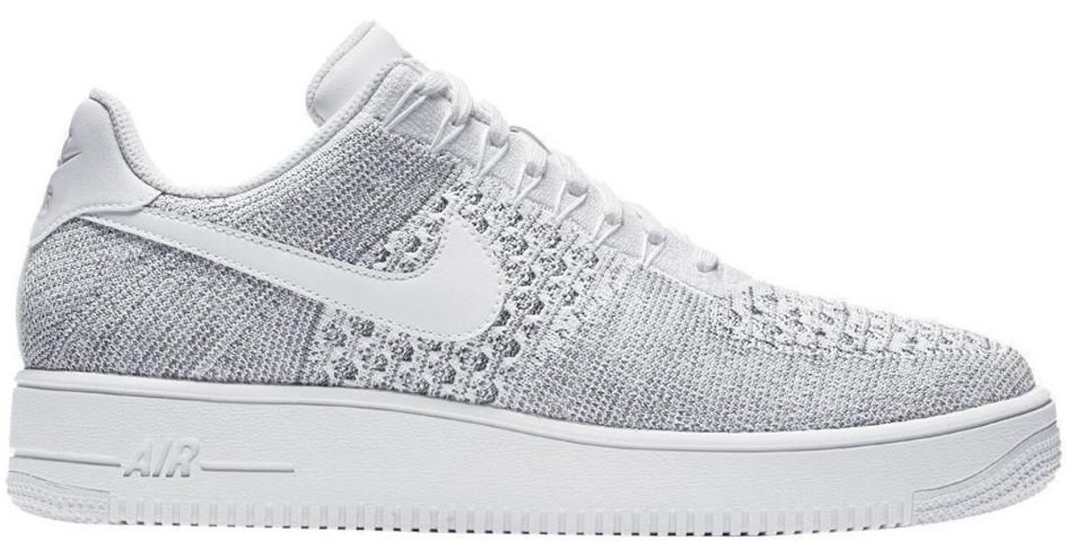 buy popular 3e6ce eaa79 Nike - Af1 Ultra Flyknit Low Men's Shoes (trainers) In White for Men - Lyst
