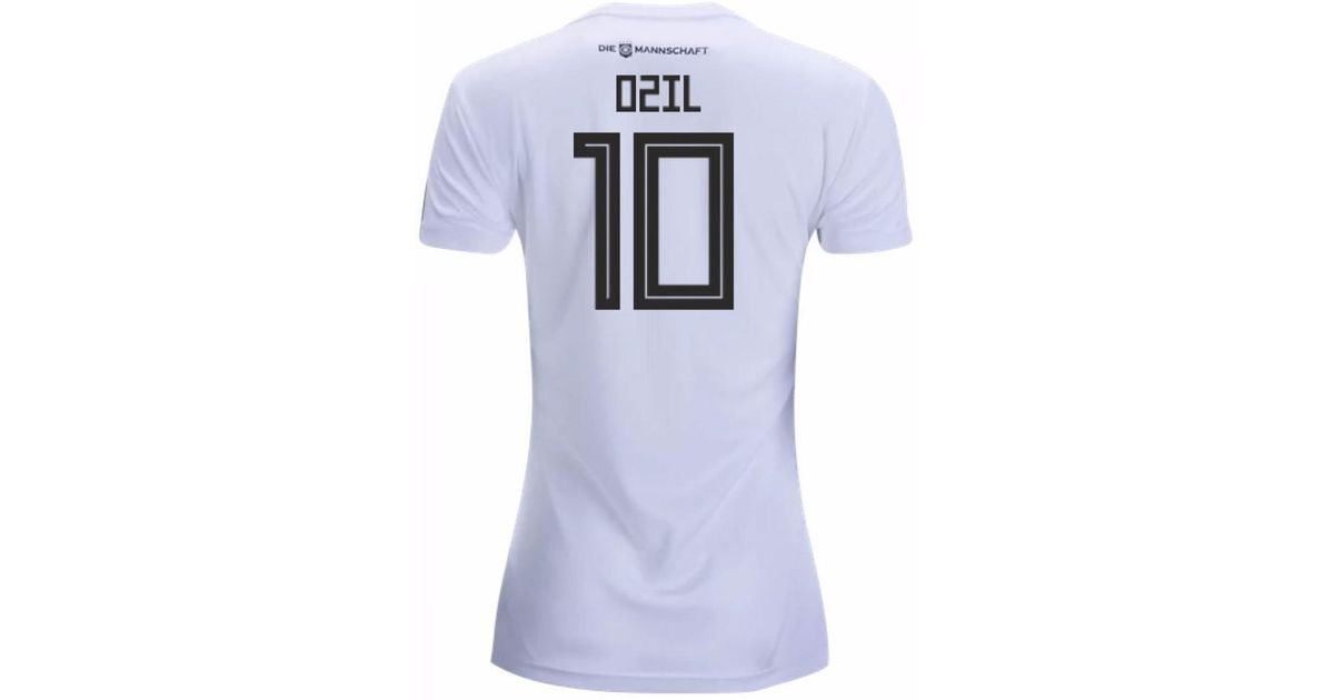 reputable site e85f5 9c10a Adidas - 2018-19 Germany Home Womens Shirt (ozil 10) Women's T Shirt In  White - Lyst