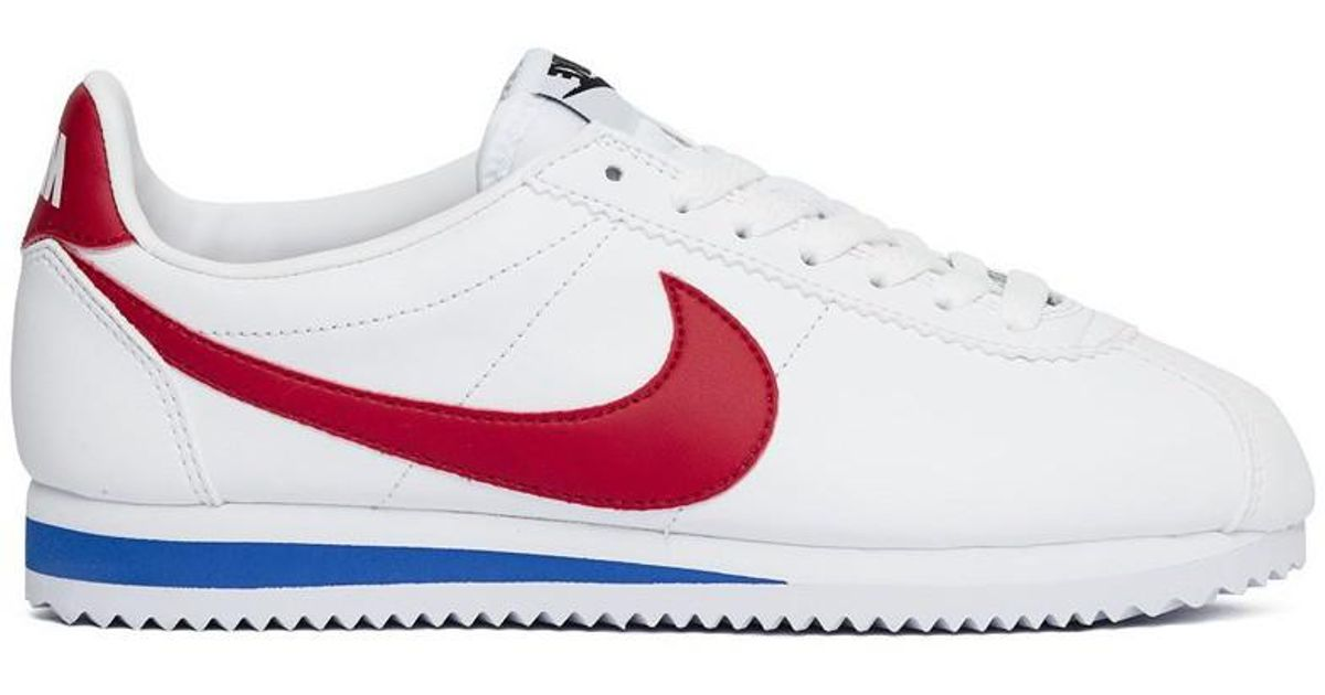 outlet store ec9b3 37e64 Nike - Wmns Classic Cortez Leather Forest Gump Women's Shoes (trainers) In  White - Lyst