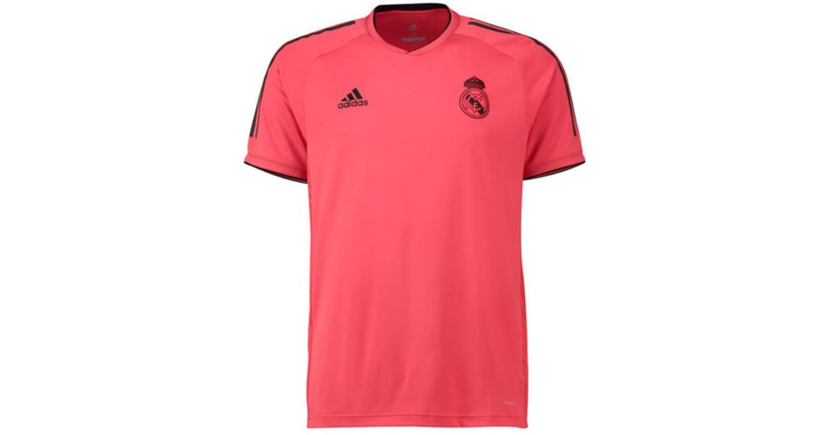 Adidas 2018-2019 Real Madrid Ucl Training Shirt Men s T Shirt In Red in Red  for Men - Lyst 85eed9ba8