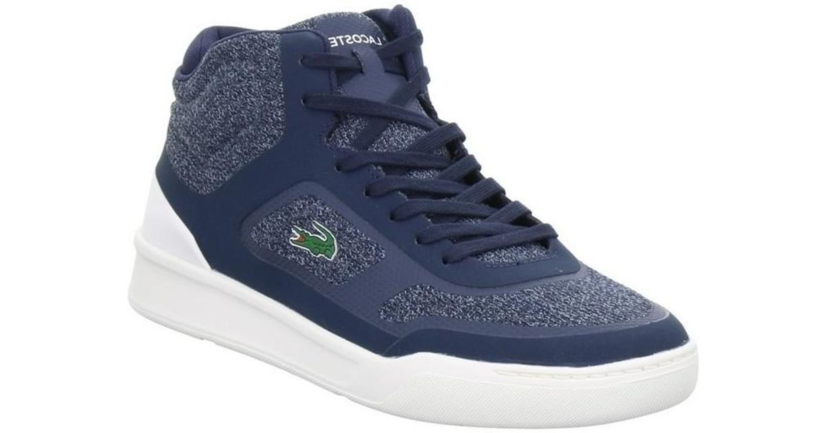 6a21358d4 Lacoste Explorateur Spt Mid Men s Shoes (high-top Trainers) In Blue in Blue  for Men - Lyst
